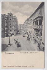 AK Innsbruck, Goldenes Dachl und. Kath. Kasino, 1900