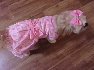 dog dress,Georgia Bulldogs,pink,Large for small breeds*(read details for size)
