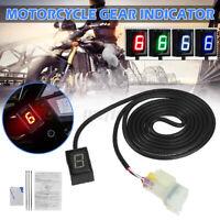 Waterproof 6 Speed LED Motorcycle Gear Indicator Speedometer Shift Fo