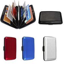 Portable Waterproof ID Credit Card Wallet Holder Aluminum Metal Pocket Case Box