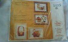 """The Creative Circle #205 """"Popcorn & Donuts"""" & """"Chicken & Eggs""""  Embroidery Kit"""