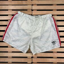 Mens Shorts Vintage 80s 90s Adidas Originals White Nylon Size L