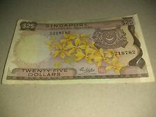 Singapore Orchid $25 note
