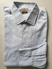 NWOT Luigi Borrelli Napoli Shirt Size 17 1/2 44 Handmade Sartorial Kiton Briton
