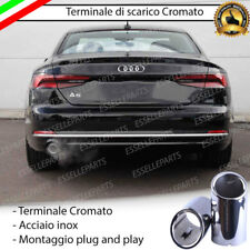 TERMINALE DI SCARICO PER MARMITTA CROMATO ACCIAIO INOX AUDI A5 F53