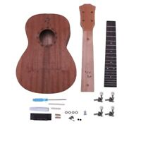 Concert Ukulele Diy Kit 23 Inch Mahogany 4 Strings Hawaiian Guitar For Handw 8F2