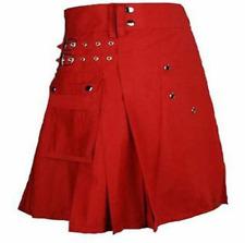 New ladies Red Scottish Irish Utility Kilt with free Expedited Shipping