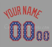 Baseball New York Mets Customized Number Kit for 2018 July 4 Jersey