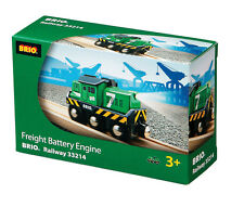 BRIO 33214 Freight Battery Engine - Railway Battery Function Age 3-5 years