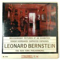 Moussorgsky Ravel Pictures At An Exhibition Columbia LP Vinyl Bernstein ML 5401