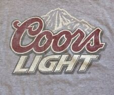 Coors Light T Shirt XL Classic Rocky Mountain Logo Grey Distressed Beer Tee
