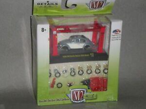 1/64th M2 Machines Model Kit 1956 VW Beetle Deluxe USA Model Gray/White