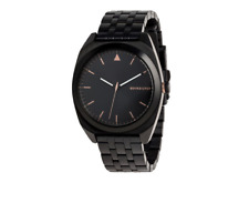 Quiksilver Mens The PM Metal Analogue Watch Black / Rose