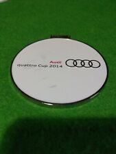 Audi Quatro cup 2014 golf Bag Tag metal  7 cm round  collectable