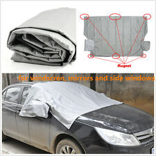 Car Front Windshield+ Side Rearview Mirror Snow Ice Frost& Flap Cover 6 Magnetic