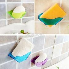 Plastic Suction Cup Storage Basket Holder Shower Caddy Sink Soap Rack Tray AU