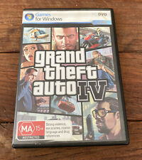 GTA 4 Grand Thedt Auto IV Windows PC - 2x Discs COMPLETE WITH MAP