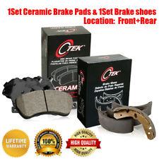 Front /& Rear Ceramic Brake Pads /& Brake shoes 2SET For Nissan Xterra 2000-2004