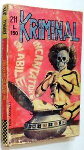 FUMETTO NOIR KRIMINAL N.211 CORNO 1969