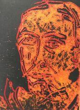 Tilopa Monk (Rüdiger Frank): Selbst - Radierung mit Prägung signiert nur 2 Ex.