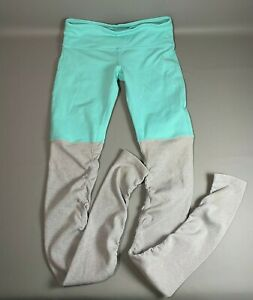 ALO Yoga Women's Goddess Leggings Pants High Waist | Teal / Gray | Size S/M ***