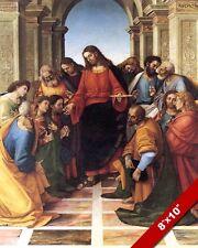 JESUS ADMINISTERING CATHOLIC COMMUNION SACRAMENT PAINTING ART REAL CANVAS PRINT