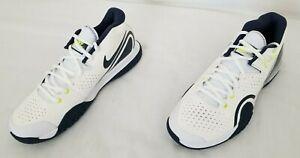 Men Size 8.5 White Blue Lime NikeCourt Tech Challenge 20 Tennis Shoes BQ0234-103