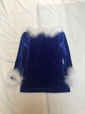 Motionwear Adult M Santa Velvet Top EUC