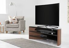 Alphason Finewoods Curve TV Stand Walnut Veneer and Black Glass 1400mm