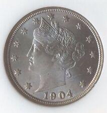 "1904 Liberty Head Nickel 5C MS 65 Gem NGC (252612-001) ""V"" Nickel"