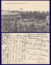 UK MERSEYSIDE SOUTHPORT EXCURSIONIST'S DAY NURSERY POSTCARD CIRCA 1920