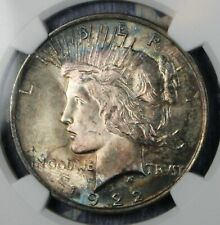 1922 PEACE SILVER DOLLAR COLLECTOR COIN NGC MS64 FREE SHIPPING