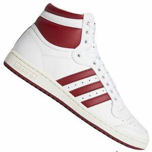 Adidas Originals Top Ten Hi Scarpe da Ginnastica Sneaker EF6367 Bianco Bordeaux