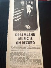 67-3 Ephemera 1974 Article Dreamland Margate Laurence James On The Organ