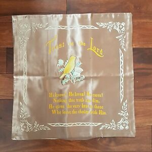WW2 Era Souvenir Pillow Cover - Trust in the Lord