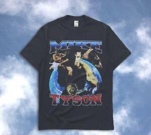 Mike Tyson Boxing Vintage T-Shirt Black Unisex Cotton Reprint S-3XL TK2365