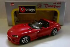 BURAGO 1:43 DIE CAST MADE IN ITALY DODGE VIPER RT/10 ROSSO ART 4125