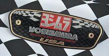 Yoshimura Exhaust Emblem Decal R&D USA Motorcycle Muffler Aluminium Metal Plate