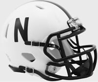 Nebraska Cornhuskers 2019 Alternate Black & White New SPEED Mini Football Helmet