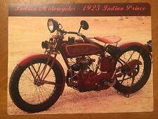 Tin Sign Vintage Indian Motorcycles 1925 Indian Prince