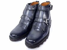 100% Authentic Berluti Men Boots Navy Size 7 Brand-new S927