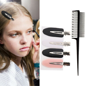 2-Way Weaving Sectioning Foiling Comb + Hair Clips Set For Hair Dyeing Tool