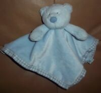 Little Jellycat Blue Bear Gingham Trim Soft Comforter Baby Blankie  Vg/Con