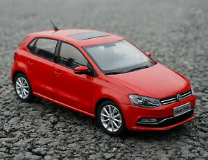 1/18 Scale VW Volkswagen NEW POLO 2016 Red DieCast Car Model Toy Collection