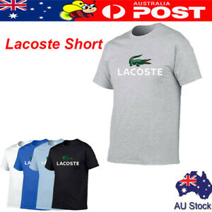 Unisex Vintage Original Lacoste Short Sleeve T-Shirt Casual Tops Sportswear AU