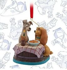 Disney Limited Edition Christmas Lady & The Tramp Sketchbook Decoration Ornament