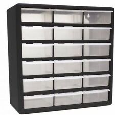 "Rv Storage Solutions Home Closet Office 18 Drawer 14 3/4"" Plastic Part Organizer"