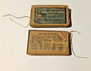 PACCHETTO MEDICAZIONE REGIO ESERCITO MOD 1931 - II GUERRA MONDIALE