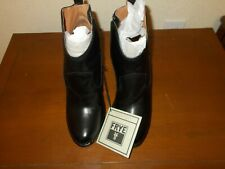FRYE BOOTS ~ Madeline Short Black Leather High Heel Ankle Booties Sz 10M NEW