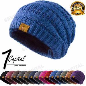 Bubble Knit Slouchy Baggy Beanie Oversize Winter Hat Ski Slouchy Cap Women Men
